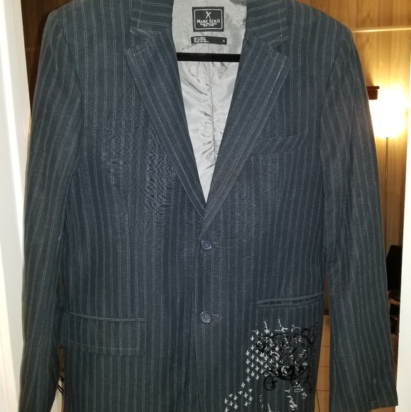 Marc Ecko Other - Marc Ecko gray pin strip jacket.